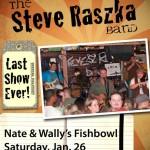 Steve Raszka Band concert poster
